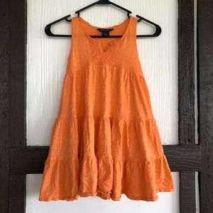 Ralph Lauren Orange Ruffle Sundress Lace Detail